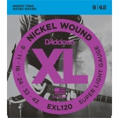 D'Addario EXL120 - струны для  электрогитары, Super Light, никель, 9-42