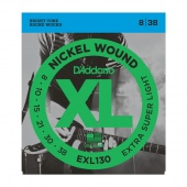 D'Addario EXL130 - струны для  эл .гит., Extra Super Light, никель, 8-38