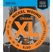 D'Addario EJ20 - струны для электрогитары Jazz Extra Light, 10-49