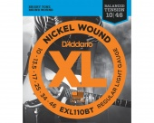 D'Addario EXL110BT - струны для электрогитары, Regular Light, никель,10-46, Balanced Tension