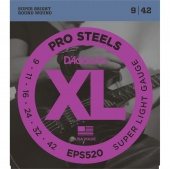D'Addario EPS520 - струны для электрогитары, ProSteels,Super Light, 9-42