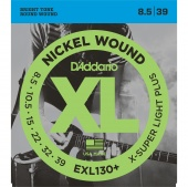 D'Addario EXL130 + - струны для  эл .гит., Extra Super Light+, никель, 8,5-39
