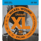 D'Addario EXL140 - струны для  электрогитары, Light/Heavy, никель, 10-52