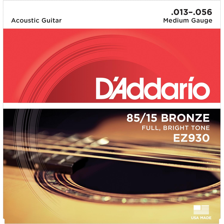 EZ930 AMERICAN BRONZE 85/15 Струны для акустической гитары Medium 13-56 D`Addario