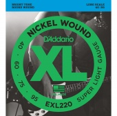 D'Addario EXL220 - Струны БАС ,nickel,super soft 40-95